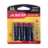 Батерия ASED, LR6/AA, алкални, 1.5V, 4 броя, блистер