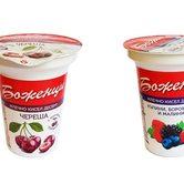 """Плодово мляко """"Боженци"""" с парченца плодове e280g (различни видове)"""